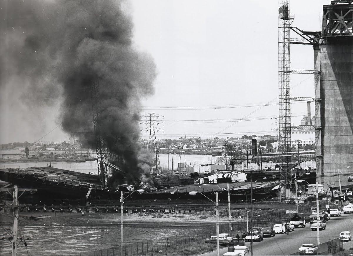 West Gate Bridge collapse, 1970.
